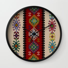 Kilim pattern #022 Wall Clock