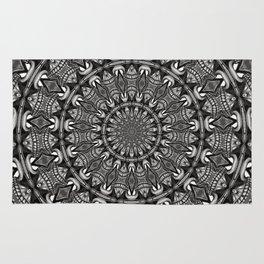Monochrome Mandala Rug