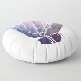 Rainbow Misty Forest Hang Loose Floor Pillow