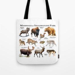 Mammals of Yellowstone Park Tote Bag