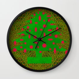 Christmas Tree Abstract Wall Clock