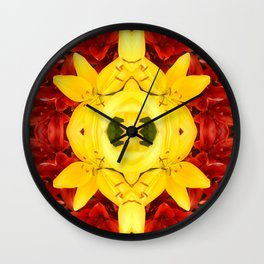 """""""A Gathering of Lilies"""" Remix - 1 (3-1) [D4465~12] Wall Clock"""