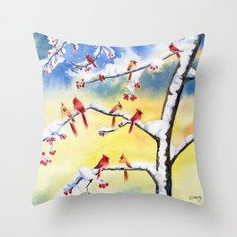 Winter Song 2 Throw Pillow