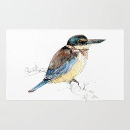 Mr Kōtare, New Zealand native kingfisher bird Rug
