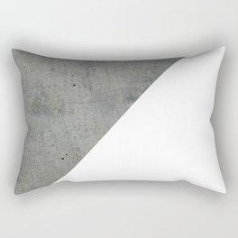 Concrete Vs White Rectangular Pillow