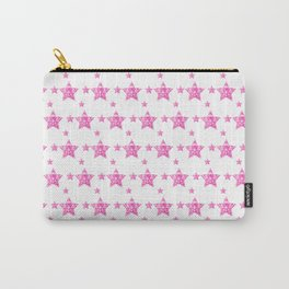 Fushcia Stars Carry-All Pouch
