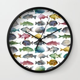 Color Fishes Wall Clock