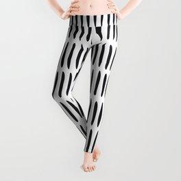 Classy Handpainted Stripes Pattern, Scandinavian Design Leggings