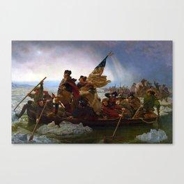 Washington Crossing the Delaware by Emanuel Leutze (1851) Canvas Print