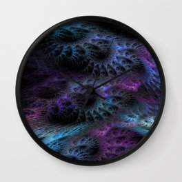 Cocons fractal art Wall Clock