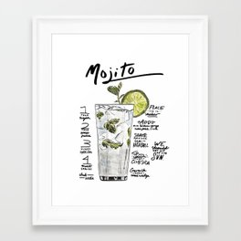 The Drink Collective: Mojito Framed Art Print