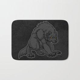 Crouching Werewolf Bath Mat