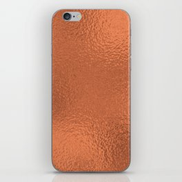 Simply Metallic in Deep Copper iPhone Skin