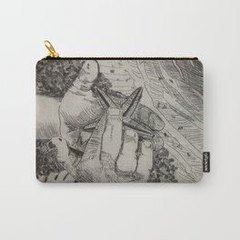 Touching the Pulse of the Gulf  (Boy and starfish at the Gulf beach) Carry-All Pouch