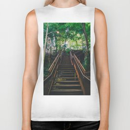Stairs of Summer and Adventure Biker Tank