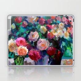 Flowers on The Garden Table Laptop & iPad Skin