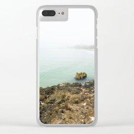 Bay of Pigs Playa Larga Cuba Caribbean Sea Ocean Beach Geology Limestone Tropical Island Fog Mist Ne Clear iPhone Case