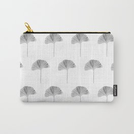 Grey Ginko Leaf - Minimalist Nature Carry-All Pouch