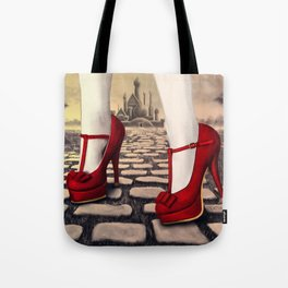Follow the yellow brick road Tote Bag