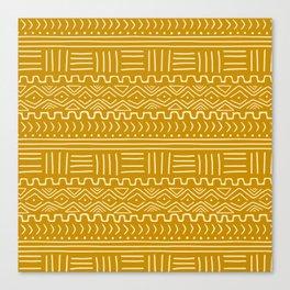 Mud Cloth on Mustard Canvas Print