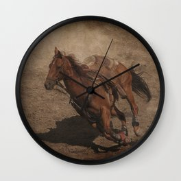 Break Away Rodeo Horse Wall Clock