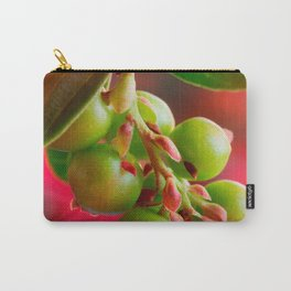 Green Berries Red Background #society6 #decor #buyart Carry-All Pouch