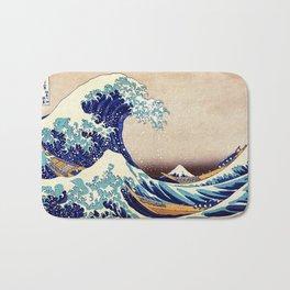 Katsushika Hokusai The Great Wave Off Kanagawa Bath Mat