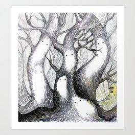 Trädandar (Tree spirits) Art Print