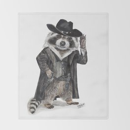 Raccoon Bandit Throw Blanket