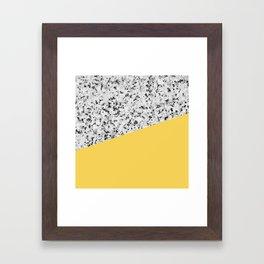 Granite and Primrose Yellow Color Framed Art Print