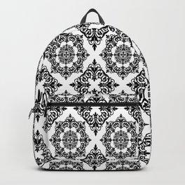 Black and White Damask 2 Backpack