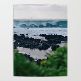 Early Morning Waves Poster
