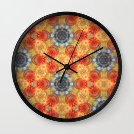 Orange Blossom and Blue Jeans Wall Clock