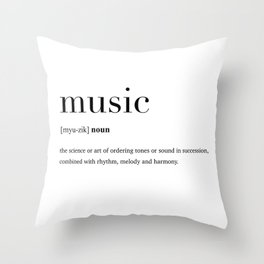 Music definition Throw Pillow