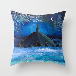 The Lonely Barrow Throw Pillow