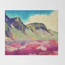 Walk towards Manayama Throw Blanket
