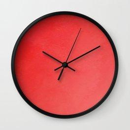 Fabulous red fiesta ombre gradient Wall Clock