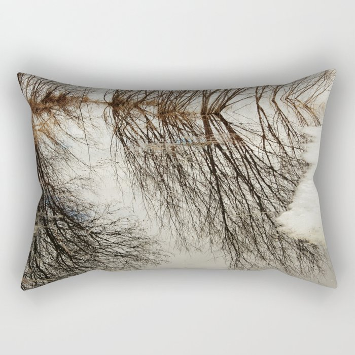 Willow tree reflection Rectangular Pillow