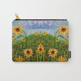 Sunflower Dancing in the Moonlight Carry-All Pouch