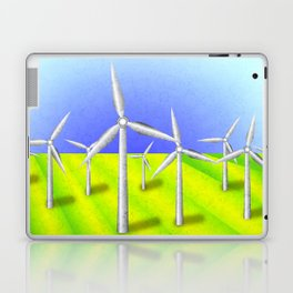 Windfarm in a field Laptop & iPad Skin