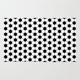 Black and white footbal pattern Rug