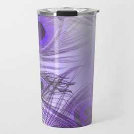 Modern purple lilac abstract peacock feathers gradient Travel Mug