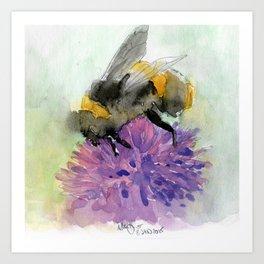 Watercolor Bee 7 Art Print