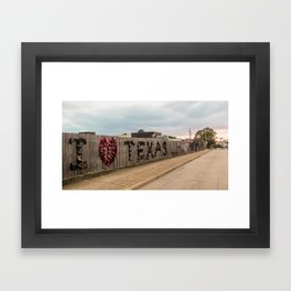 I Love Texas Framed Art Print