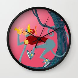 Magic Monkey Wall Clock
