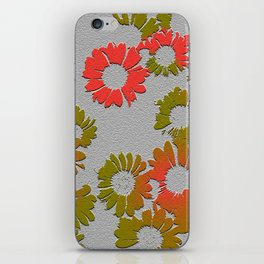 Emboss Floral iPhone Skin