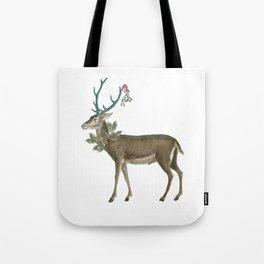 Artsy Christmas reindeer Tote Bag