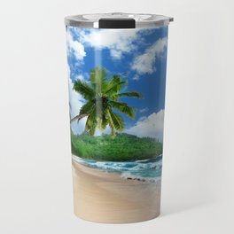 Tropical Landscape at Mahé  Island, Seychelles Travel Mug