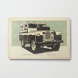 Land Rover Series II Metal Print