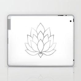 Silver Foil Lotus Flower Laptop & iPad Skin